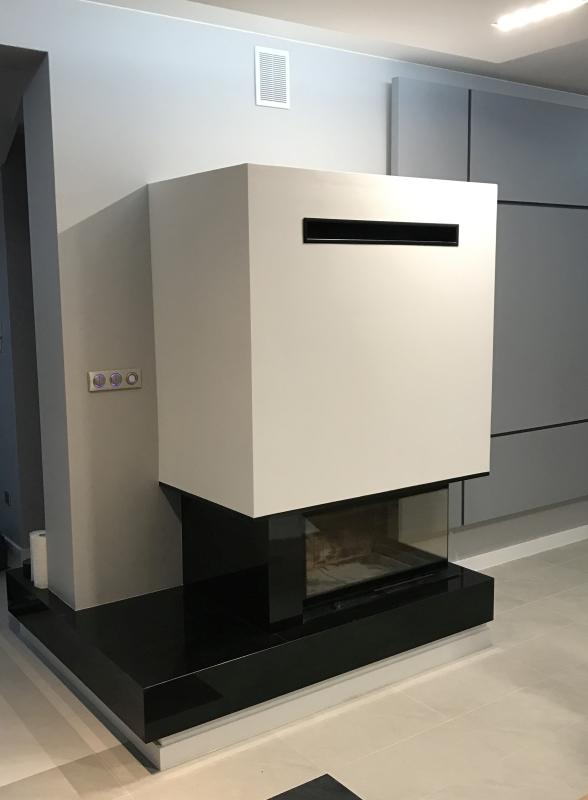 kominek nowoczesny nowoczesna obudowa kominkowa n112