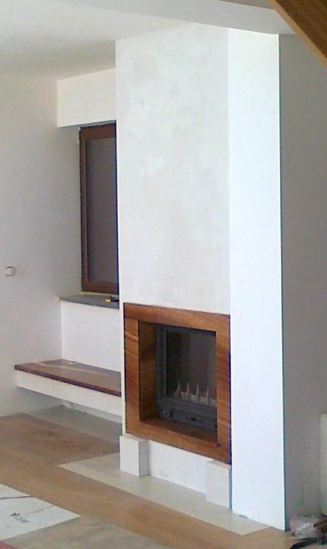kominek nowoczesny nowoczesna obudowa kominkowa z wkładem Godin 3170 kominki Kraków