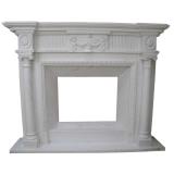 portal kominkowy Argos-biały marmur