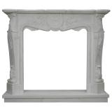 portal kominkowy Avignon-biały marmur