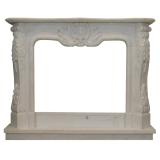 portal kominkowy Bordeaux-biały marmur