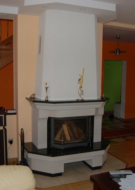 kominek tradycyjny t04  klasyczny kominek rustykalny obudowa kominkowa
