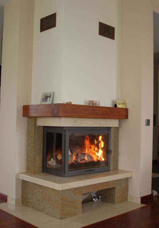 kominek tradycyjny t05  klasyczny kominek rustykalny obudowa kominkowa