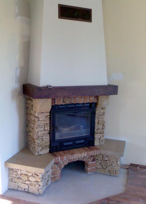 kominek tradycyjny t07  klasyczny kominek rustykalny obudowa kominkowa