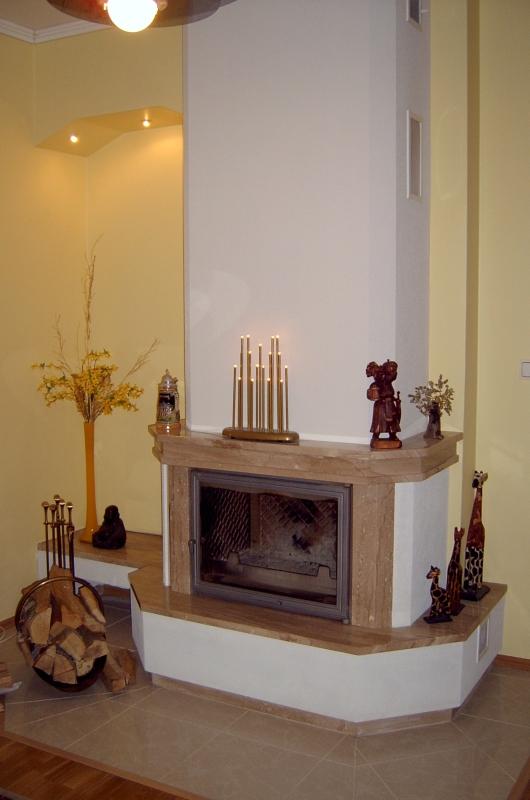 kominek tradycyjny t09  klasyczny kominek rustykalny obudowa kominkowa