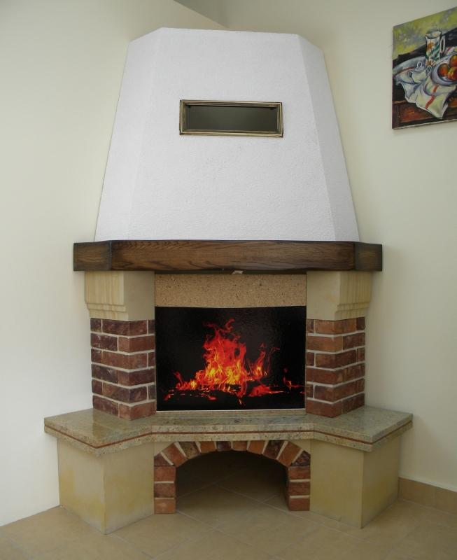kominek tradycyjny t12  klasyczny kominek rustykalny obudowa kominkowa