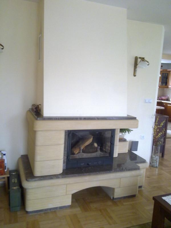 kominek tradycyjny t18  klasyczny kominek rustykalny obudowa kominkowa