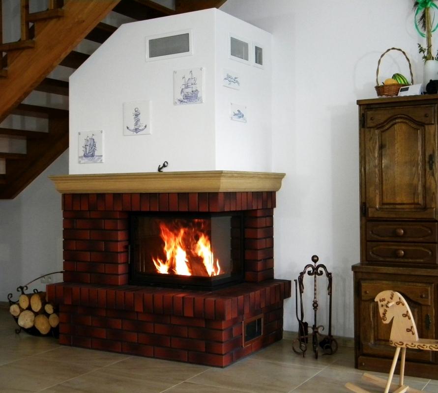 kominek tradycyjny t87 klasyczny kominek rustykalny obudowa kominkowa